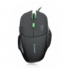 X-LSWAB L9 USB Wired 800/1200/2000dpi Optical Gaming Mouse - Black + Green (155cm-Cable)