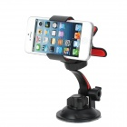 Universal 360 Degree Rotatable Car Mount Holder for Iphone 4 / 5 / Samsung - Black + Red