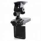 "PORTWORLD HD-201 2.5"" TFT 3.2MP Wide Angle Car Recorder w/ 6 IR LED Night Vision - Black"