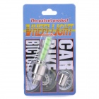 Motion Activated Green LED Wheel Lights for Bikes and Cars (2-Pack)