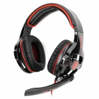 SADES SA-903 USB 2.0 Gaming Headphones w/ Microphone - Black + Red (300cm-Cable)