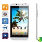 """CUBOT ONE Quad-Core Android 4.2 WCDMA Bar Phone w/ 4.7""""HD, Wi-Fi, GPS and Dual-SIM - Silver"""