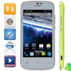 """DOOGEE Collo DG100 MTK6572 Dual-Core Android 4.2.2 WCDMA Bar Phone w/ 4.0"""", FM, GPS - White + Green"""