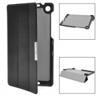 3 Section Folding Protective PU Leather Case for Google Nexus 7 II - Black