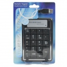 USB 19-Key Numeric Keypad/Numpad for Laptop (Black