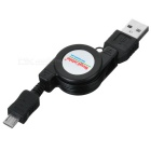 Retractable USB to Micro 5P Data/Charging Cable (60CM-Length)