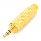 Gold Plated AV 6.3mm Female to 3.5mm Convertor Plug