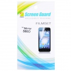 Glossy Mirror Screen Protector with Cleaning Cloth for Nokia 5800
