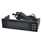 """5.25"""" PC Chassis Front Panel 3.8"""" LCD Temperature + Fans Controller + Calendar + HDD Panel"""