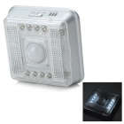 8-LED 2-Mode Infrared Sensor Motion Activated White Lamp (2*AA)