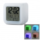"""2.7"""" LCD Glowing LED Change 7 Color Digital Clock + Alarm + Calendar + Thermometer (2*AG13+4*AAA)"""