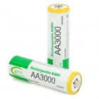 """BTY 1.2V """"3000mAh"""" Ni-MH Rechargeable AA Batteries (Pair)"""