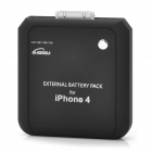 2200mAh Rechargeable External Battery for Iphone 4/3GS (Black)