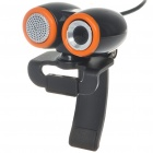 Compact 1.3MP PC USB Webcam with Built-in Microphone - Black
