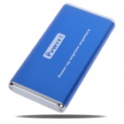 6000mAh Rechargeable External Battery Pack with Cellphone Adapters (Blue)