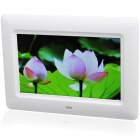"""7"""" Wide Screen TFT LCD Desktop Digital Photo Frame with SD/MMC/TV Out - White (480*234px)"""