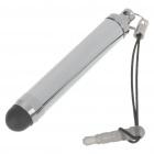 Universal Extensible Capacitive Screen Stylus Pen with Strap - Silver