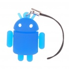 Glow-in-the-Dark Android Robot Doll Toy Cell Phone Strap - Blue