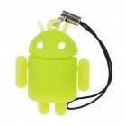 Glow-in-the-Dark Android Robot Doll Toy Cell Phone Strap - Green