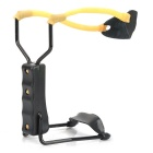 Professional Metal Slingshot Launcher with Support - Black