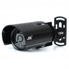 1/3 CCD Waterproof Surveillance Security Camera with 48-LED Night Vision - Black (DC 12V)