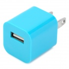USB Power Adapter/Charger for Ipod Series/Iphone/3G/4 - Blue (100~240V/US Plug)