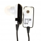 Dual Channel Bluetooth V2.1 Stereo Headset w/ Microphone - Black (5-Hour Talk/180-Hour Standby)