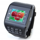 """1.3"""" Touch Screen Wrist Watch Style Dual SIM Dual Network Standby Quadband GSM Cell Phone w/ Camera"""