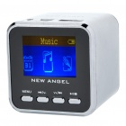 "1.4"" LCD Mini USB Rechargeable MP3 Player Speaker w/ Alarm Clock/TF/USB/Line In/3.5mm Jack - Silver"