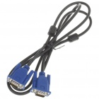 VGA Monitor Male to Male M/M Cable - Blue + Black (140CM-Length)