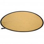 """2-in-1 43"""" Gold/Silver Nylon Collapsible Reflector"""