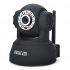 300KP Wireless WiFi/WLAN Network Surveillance IP Camera w/ 10-LED Night Vision/Microphone - Black