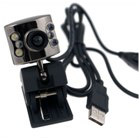 USB PC Webcam w/ Microphone  (300K Pixel with 6-LED)