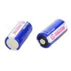 1400mAh CR123A Lithium Battery - Blue + White