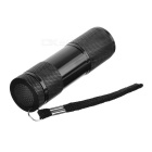 Compact 9 LEDs Flashlight - Black