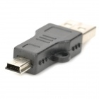 USB Macho para Mini USB Adapter Masculino - Preto