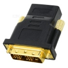 HDMI to DVI-D Single Link Converter Adapter - Black + Golden