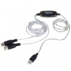 USB to USB Midi In & Out interface Cable - White + Black