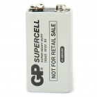 GP SuperCell 9V Battery - White (aka 1604S/6F22)