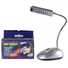 8 LED Phone Line Powered Lamp with Battery Bay