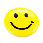 Smiling Face LED Flashlight Badge (3 x AG13)