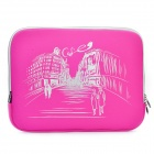"Stylish Protective Soft Pouch with Dual-Zipped Close for 13.3"" Laptop Notebook - Rose Red"