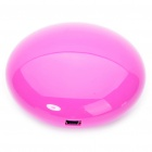 Cute Cobblestone Shaped USB Powered Resonance Speaker - Pink