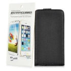 Durable Leather Protective Case + Screen Protector for Samsung I9100 S2 - Black