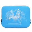 "Stylish Protective Soft Pouch with Dual-Zipped Close for 13.3"" Laptop Notebook - Blue"