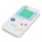 Unique Retro GAME BOY Protective Silicone Back Case w/ Screen Protector for iPhone 4 - Grey