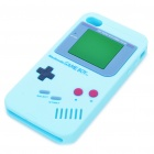 Unique Retro GAME BOY Protective Silicone Back Case w/ Screen Protector for iPhone 4 - Light Blue