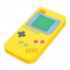 Unique Retro GAME BOY Protective Silicone Back Case w/ Screen Protector for iPhone 4 - Yellow