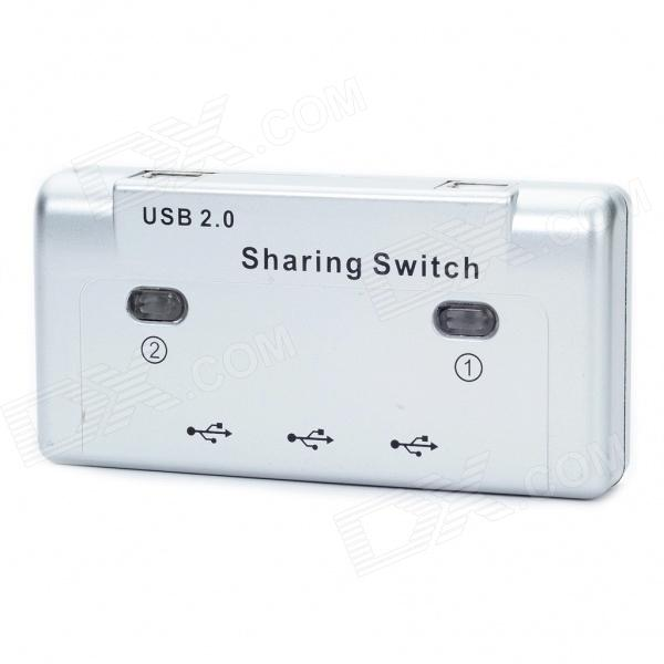 USB 2.0 3-Port Peripheral Printer Sharing Switch - Silver overload switch st 1 mr1 wp 01 insurance overcurrent protection device 20a printer parts