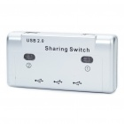 USB 2.0 3-Port Peripheral Printer Sharing Switch - Silver